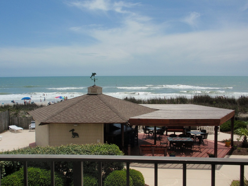 View of Gazebo/dining/beach